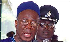 Sierra Leone's president Kabbah
