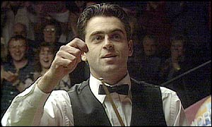 The favourite piece of action that you voted for was the 147 maximum break by Ronnie O'Sullivan in 1997