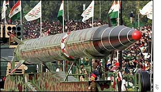 India's long-range Agni II missile on show
