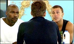 Darren and Craig confront Nick in a classic moment from Big Brother 1