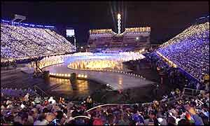 The closing ceremony for the 2002 Winter Olympics