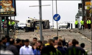 Riots in Oldham in May 2001