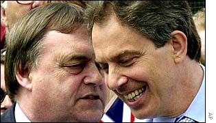 John Prescott and Tony Blair
