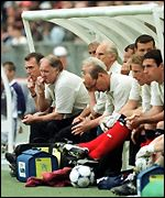 Craig Brown's Scotland lost to England during Euro 96 and Euro 2000