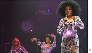 Diana Ross with the reformed Supremes