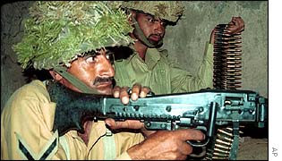 Pakistani soldiers in Chakoti sector