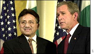 General Musharraf and George Bush