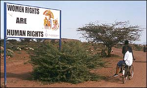 sign at the entrance to Kakuma refugee camp