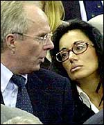 Sven-Goran Eriksson and Nancy Dell'Olio