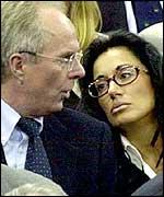Sven-Goran Eriksson and Nancy Dell'Olio