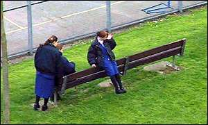 girls in playground