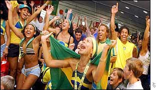 Brazil fans in Zurich