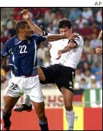 Michael Ballack scores his goal in the 39th mintue