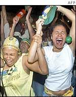 Fans in Rio de Janeiro