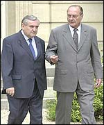 French president Chirac and prime minister Raffarin