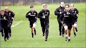 The United lads are put through paces
