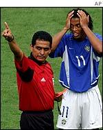 England's nemesis - Ronaldinho