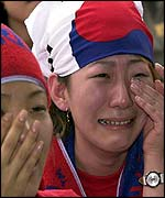 The dream is over for South Korea fans