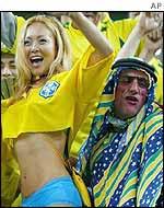 Brazil fans celebrate