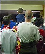 Crowds at the Galatasaray Supporters' Club, north London