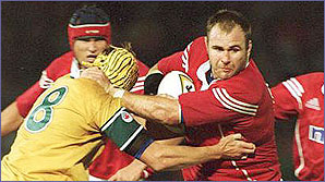 Scott Quinnell in action for the ritish Lions