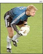 Kahn has conceded just one goal at he World Cup