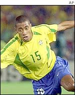 Kleberson hit the woodwork for Brazil
