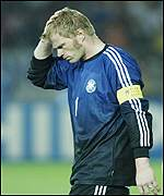 Germany's captain and goalkeeper, Oliver Kahn