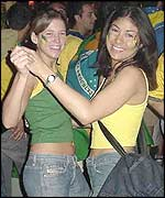 Brazil fans get down to the beat