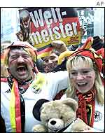 Celebrations in Berlin during the World Cup final