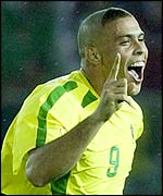 Ronaldo celebrates scoring