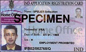 An asylum seeker's ID card