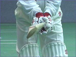 A good grip is essential to guide the bat