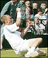 New Wimbledon champion and world number one Lleyton Hewitt