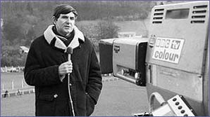 Bill McLaren makes a report for the BBC
