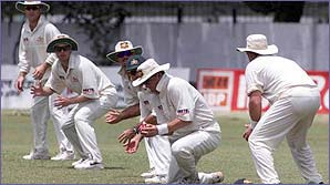 Mark Waugh takes yet another slip catch