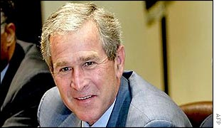 President Bush at the White House on 12 July