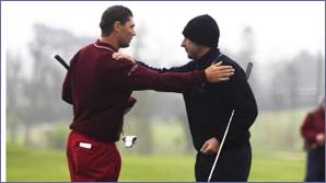 Padraig Harrington (left) with Jose Maria Olazabal