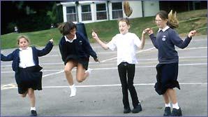 Kids skipping