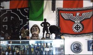 A shop in predappio selling Mussolini memorabilia
