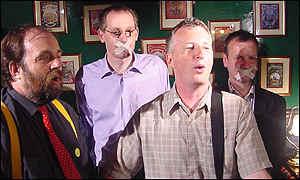 David Heath MP (left) and Billy Bragg in July