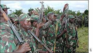 Rwanda soldiers