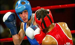 Martin Lindsay was the only NI fighter to win a bout at last year's Commonwealth Games