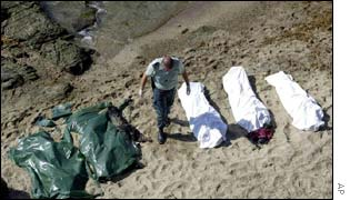 Bodies on Spanish beach