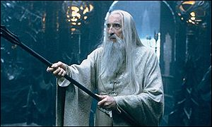 Christopher Lee, who played powerful wizard Saruman the White