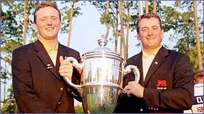 Michael Hoey (left) and Graeme McDowell