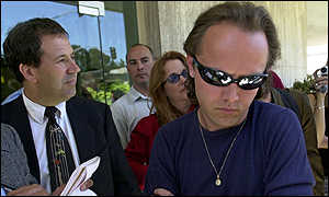 Metallica's Lars Ulrich (foreground)