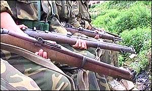 Maoists rebels in Nepal