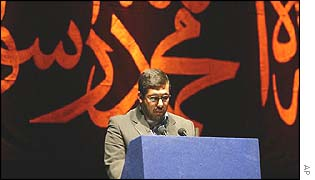 Usama Matar, a member of Hizb ut-Tahrir from Palestine, recites from the Koran