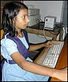 Shahsana using computer in Bangladesh